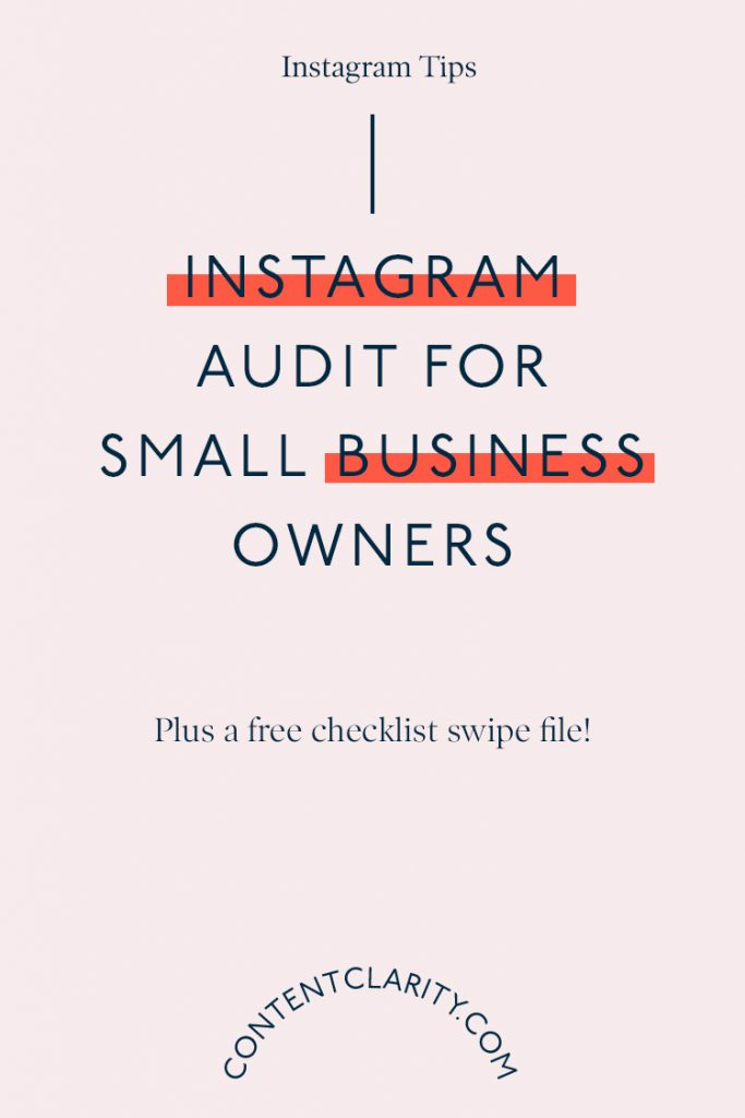 Instagram Audit for Small Business Owners