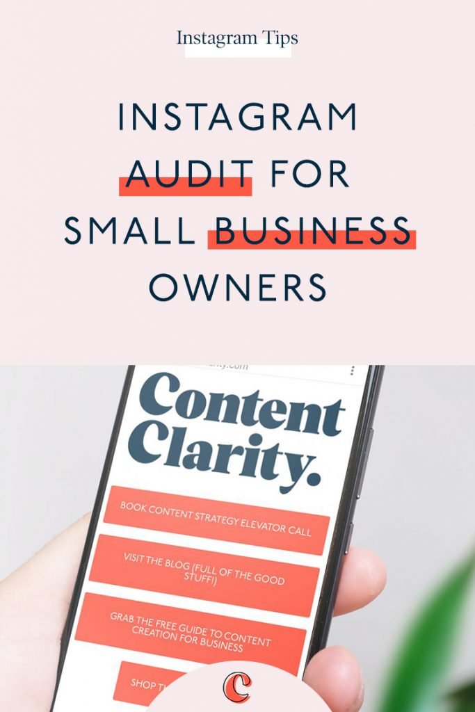 Instagram Audit for Small Business Owners + FREE Checklist Swipe File | Content Clarity | If you're using Instagram for your business, you'll already know just how this platform can benefit you. To keep your Instagram A-game top level, it's essential that you regularly audit your Instagram Business Account, firstly to make sure you're meeting your goals, but also to keep your profile in check and ensure you're making the most of the Instagram platform.I've created a FREE downloadable Instagram Audit Swipe File, so you can keep track of your account and progress.
