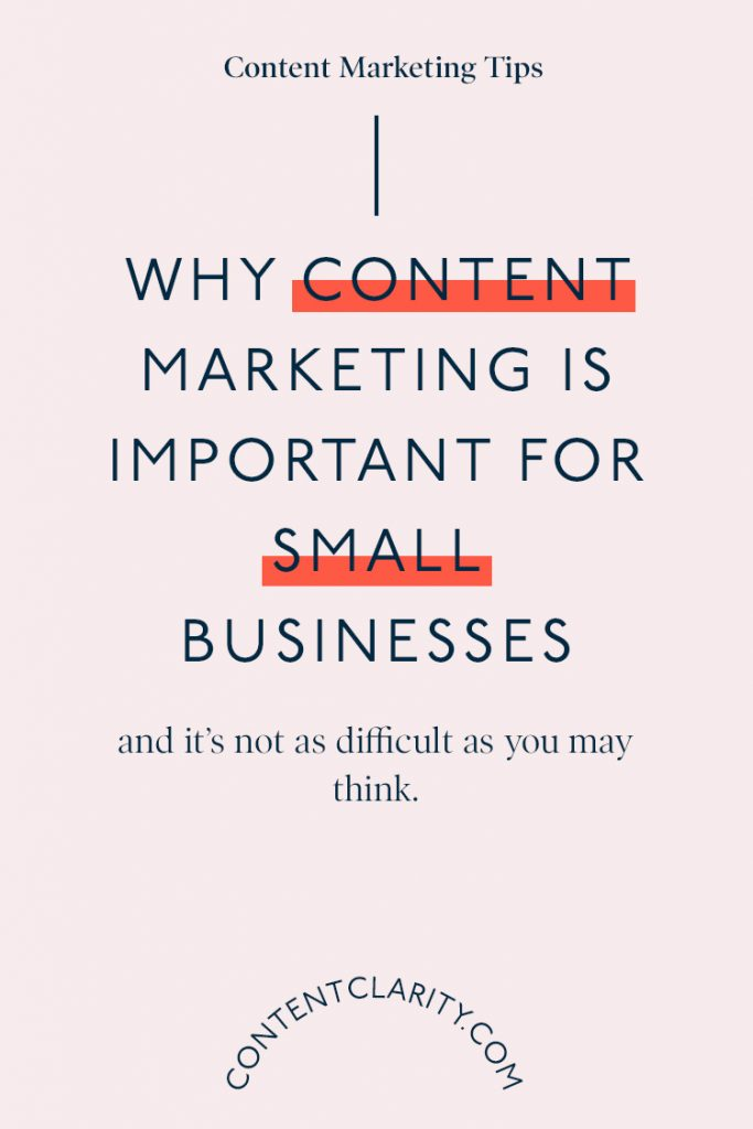 Why content marketing is important for small businesses | Content Clarity | Let me first start by saying 'in this day and age, content marketing is an absolute must', especially for small businesses. But don't run screaming for the hills just yet, because it doesn't have to be as difficult as you may make out.