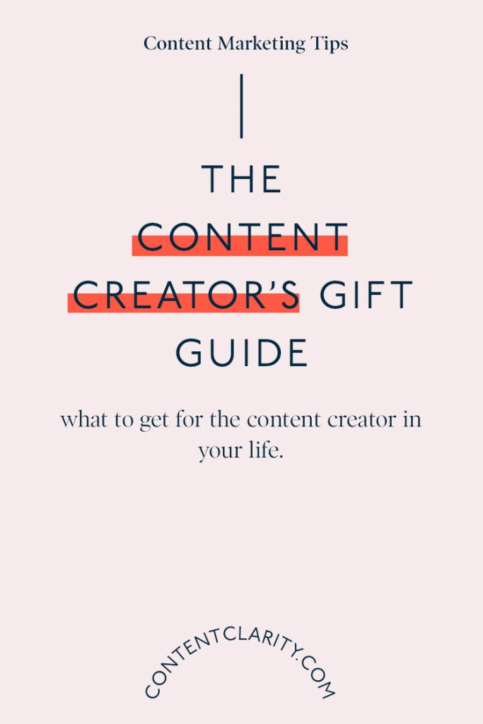 The Content Creator's Gift Guide | Content Clarity | With Christmas just around the corner, you might be wondering what you should put on your Christmas list this year. Or maybe you have a content creating loved one and have no idea what to get them… Don't worry, I got you!
