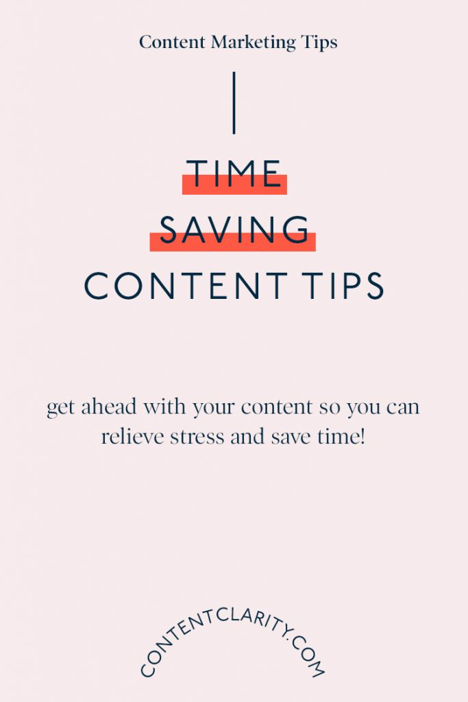 Time Saving Content Tips