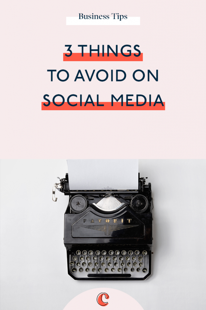 3 things to avoid on social media | Content Clarity | It can be hard to know how to best invest your time on social media for your business.