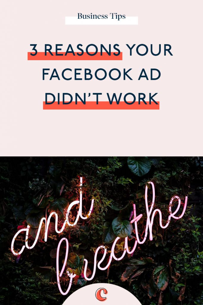 3 reasons your Facebook ad didn't work