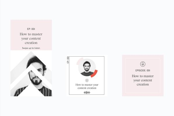 podcast promotion templates for indesign & canva