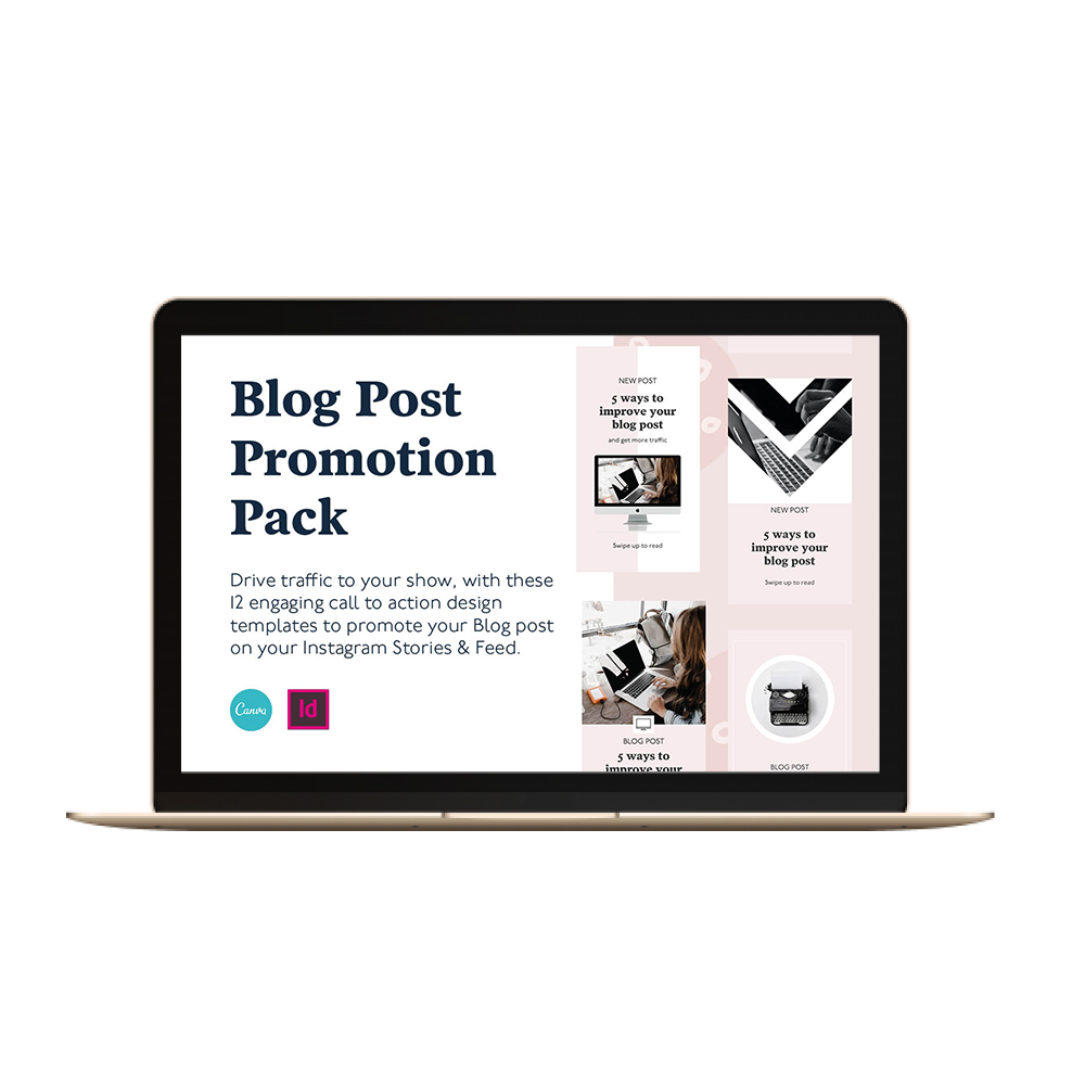 Blog Promotion pack social media templates for canva and indesign
