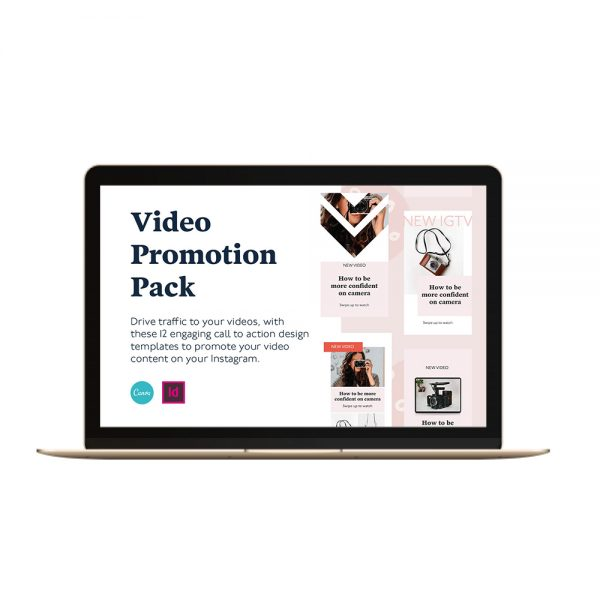 Video social media templates canva and indesign video promotion instagram stories and feed