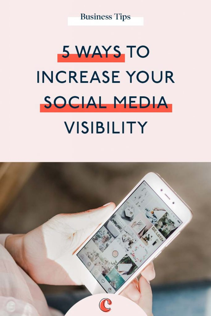 5 ways to increase your social media visibility | Content Clarity | Growing your visibility online is a big goal for many business owners. You already know what you offer is amazing. You've spent so much time perfecting it over the years and it's your baby…So WHY aren't people buying it?!!! Most likely because, they don't know you exist.