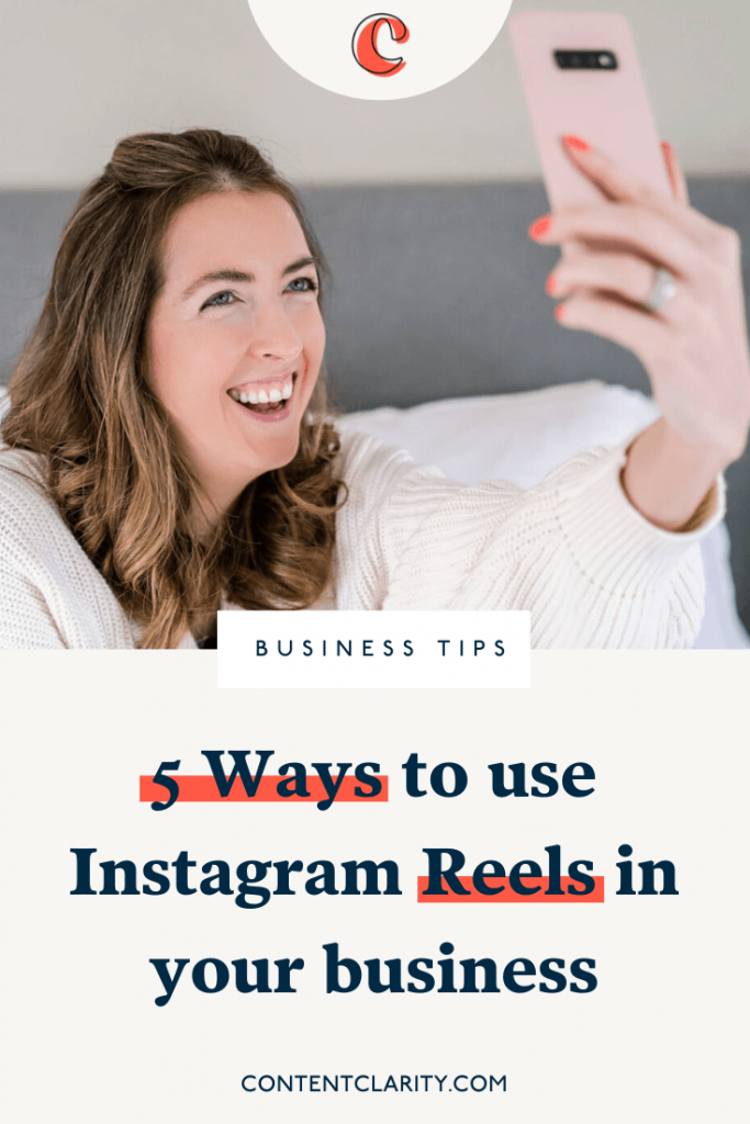5 Ways to use Instagram Reels in your business   Content Clarity   So, if you're new to short form video… You may have seen the recent Instagram announcement about Reels importance and be wondering just how you can use it to your advantage in your business.