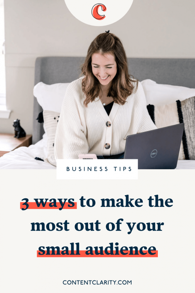 3 ways to make the most out of your small online audience | Content Clarity | Growing your audience seems to be a big focus for many online business owners. But whilst you're waiting for those seeds to grow, what can you be doing now to see results… leads… and sales in your business.